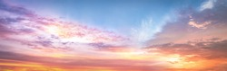 Colourful sky and clouds sunset background