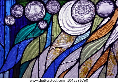 Colourful stained-glass window #1045296760