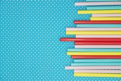 colourful straws, pop background