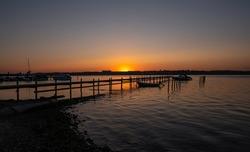 colourful sunset in kolding, denmark