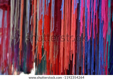 colourful threads at the market