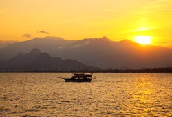 Colourful turkish sunset, Antalya, Turkey