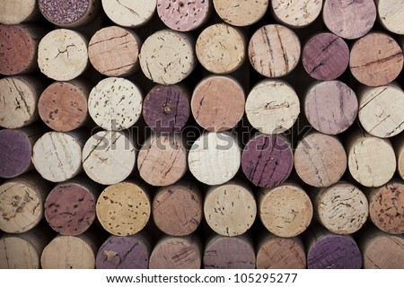 Colourful wine cork background