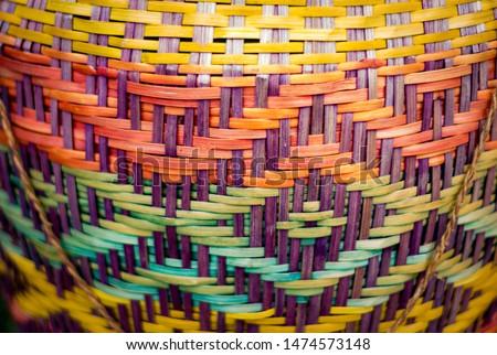 Colourfull Indigenous Guarani indian basket #1474573148
