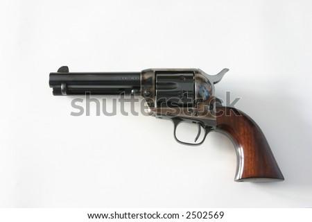 Colt .45 Pistol, Peacemaker - stock photo