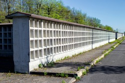 Columbarium-the burial place of urns with the ashes of the dead.