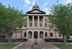 Columbia County Courthouse in Lake City, Florida, United States.