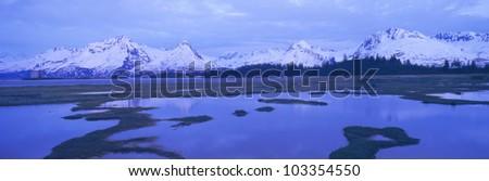 Columbia Glacier near TransAlaska Pipeline, Valdez, Alaska