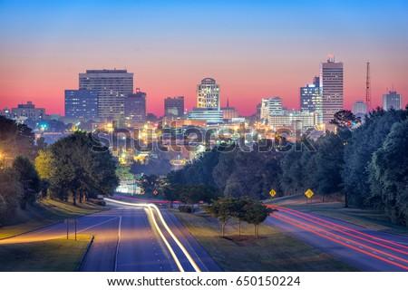 Columbia, South Carolina, USA skyline and highway. #650150224