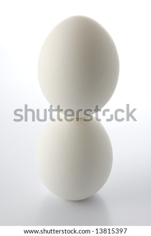 Columbus's eggs on white background