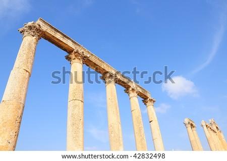 column at Jerash ancient city in Jordan
