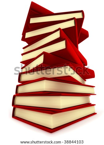 Column books (isolated, done in 3d)