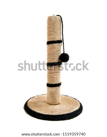 column feline, tower for cat, on white background, isolated
