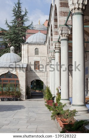 Column in Blue Mosque, Istanbul. Photo stock ©