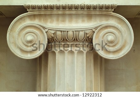 Column made from sandstone