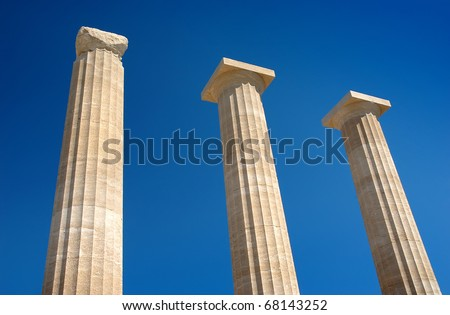 Columns - a historic landmark, Rhodes, Greece