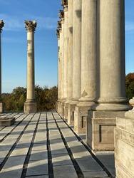 Columns at the National Arboretum