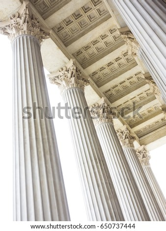 Stock Photo columns at the parliament in vienna
