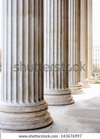 Stock Photo columns at the parliament in vienna, symbolic photo for architecture, stability, history