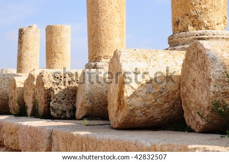 columns in an ancient city