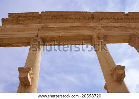 columns in ancient Palmyra, Syria