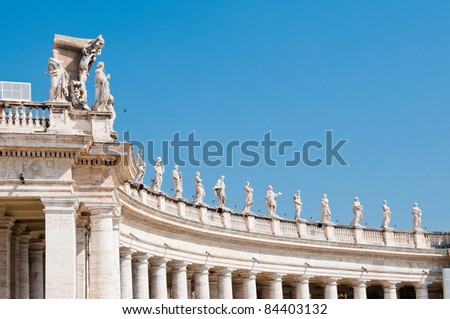 Columns in St. Peter's Square