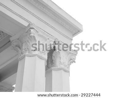 Columns isolated - stock photo
