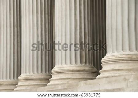 Columns of pParlament building, Wien, Austria