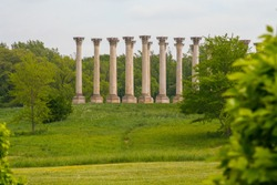 Columns on a hill at the National Arboretum in Washington DC