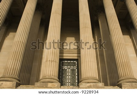 Columns on St Georges Hall, Liverpool, England, completed in 1854