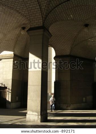 Columns, shadows