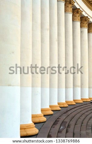 Columns with capitals create an interesting visual rhythm