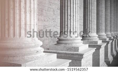 Columns with shadows deep perspective ストックフォト ©