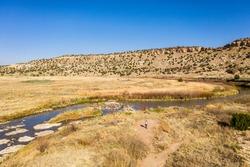 Comanche National Grassland - La Junta, Colorado.  Aerial Drone Photo