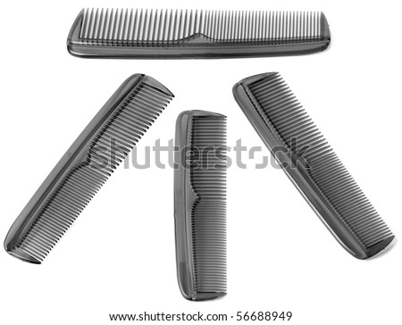 comb is isolated on a white background