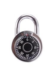 combination lock, digital code isolated on white background