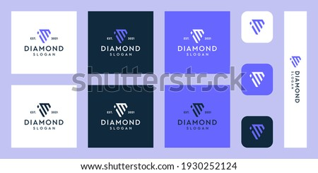 combination of the letters im monogram logo with abstract diamond shapes. Hipster elements of typographic design. icons for business, elegance, and simple luxury. Stok fotoğraf ©