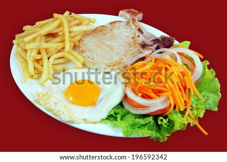 Combined Burger                       Foto stock ©