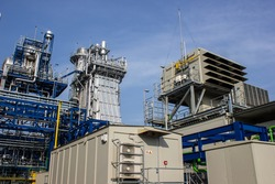 Combined-Cycle Power Plant : 2 Gas Turbine , 2 HRSG (Heat Recovery Steam Generator) and 1 Steam turbine