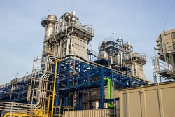 Combined Cycle Power Plant is consist of gas turbine for change mechanical load to electricity and exhaust of gas turbine use for generate the steam to steam turbine for generate electricity