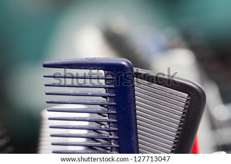 combs in the barbershop