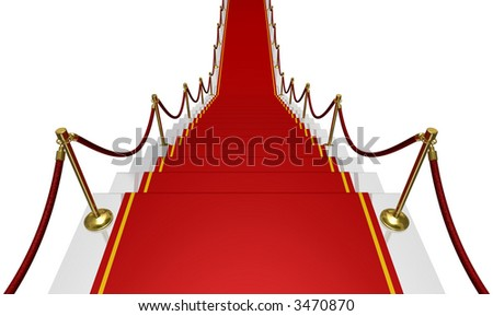 Comeback (metaphor with the red carpet and the stair)