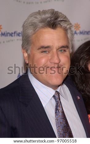 Comedian JAY LENO at the 4th Annual Adopt-A-Minefield Gala at the Century Plaza Hotel, Beverly Hills, California. October 15, 2004