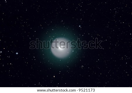 Comet holmes after explosion in space