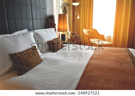 Comfort bedroom in luxury style #548927521