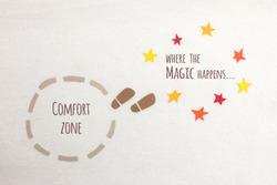 Comfort zone vs where the magic happens