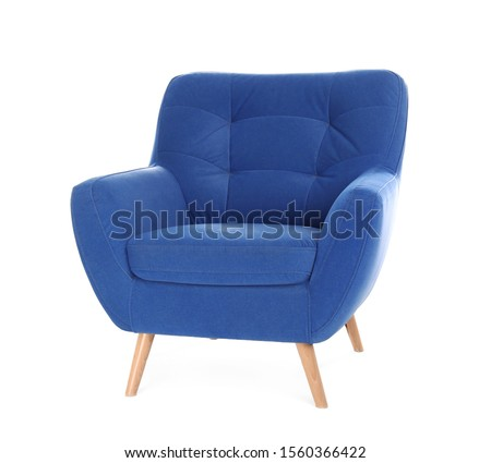 Comfortable armchair isolated on white. Interior element Foto stock ©