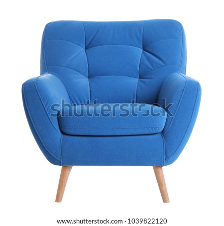 Comfortable armchair on white background #1039822120