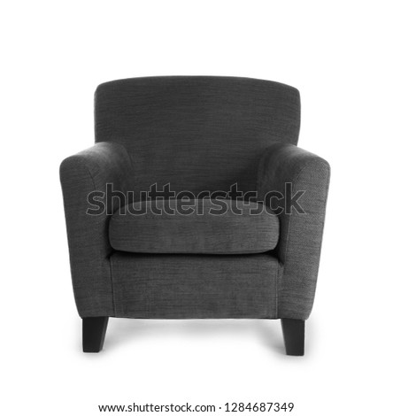 Comfortable armchair on white background #1284687349