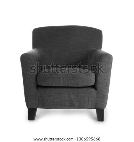 Comfortable armchair on white background #1306595668